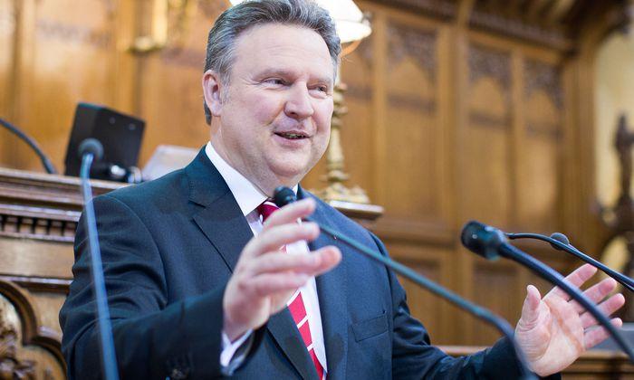 Ludwig bei seiner Rede im Wiener Gemeinderat am Donnerstagvormittag.
