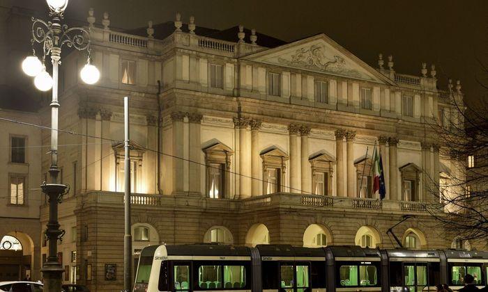 Das Opernhaus Scala in Mailand.