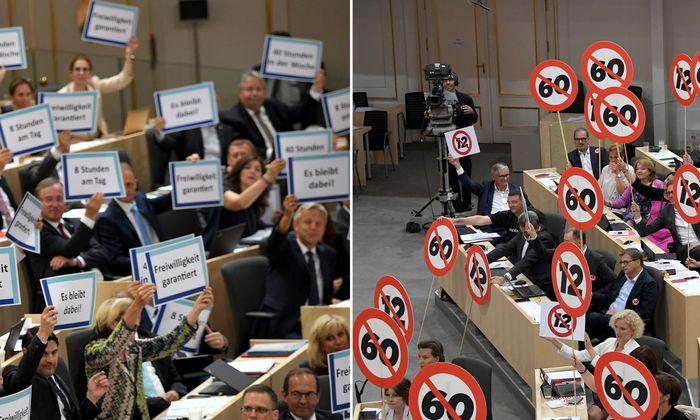 Taferlschlacht im Nationalrat: Die Koalitionsparteien sind gut ausgerüstet für die Debatte über die Arbeitszeitflexibilisierung.