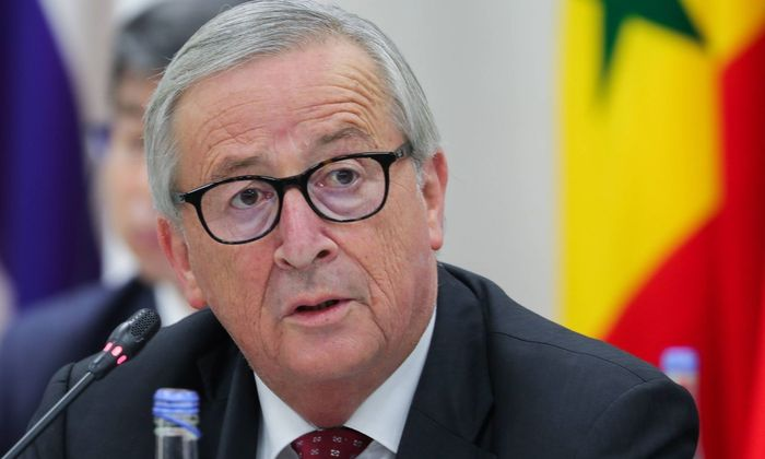 """Historischer Moment"", meinte Kommissionschef Jean-Claude Juncker"