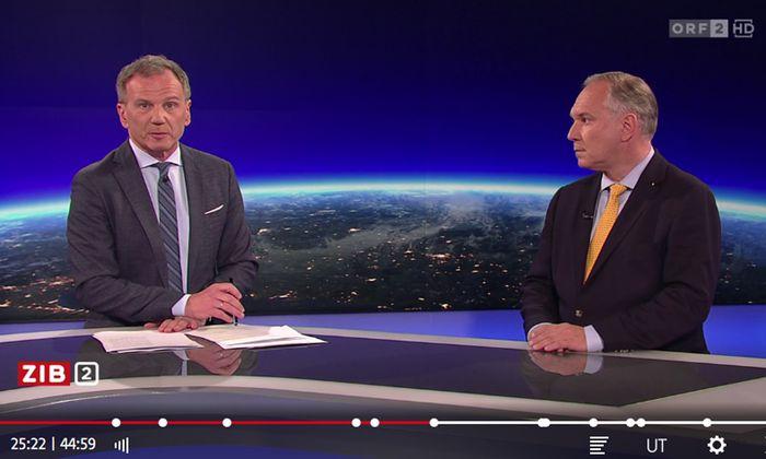"""Wolf und Rosenkranz in der ORF-Sendung """"ZiB2"""" am 27. Mai 2019"""