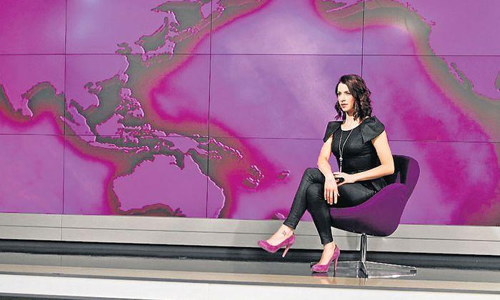 Russia-Today-Moderatorin Abby Martin übte im Fernsehen Kritik an Moskau.