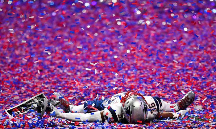 Konfettiregen in Atlanta, New England gewann den 53. Super Bowl.
