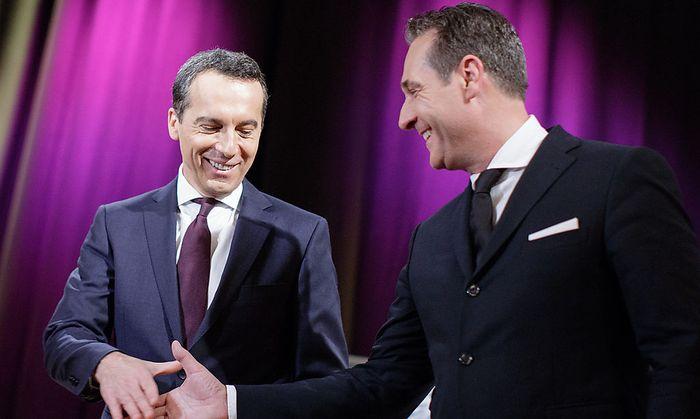 """""""Kampfkuscheln zwischen Strache und Kern hilft Hofer"""""""