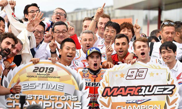 Marc Márquez feierte beim Grand Prix von Japan in Motegi am Sonntag seinen 10. Moto-GP-Sieg der Saison.