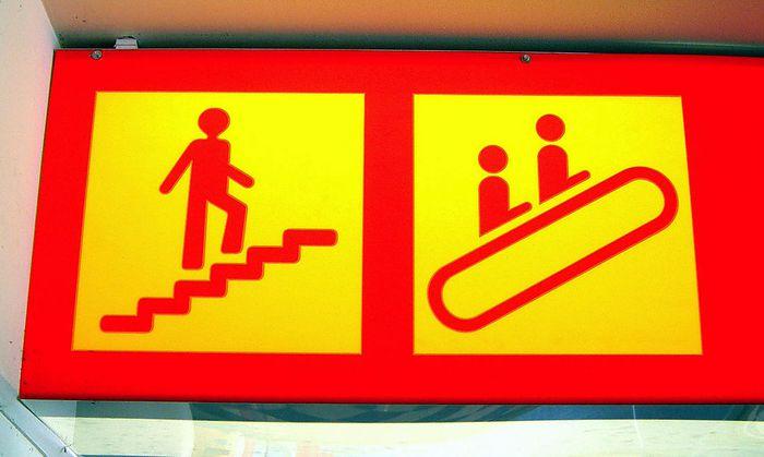 Treppe oder Rolltreppe?