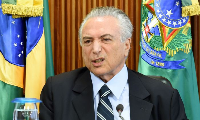 Interimspräsident Michel Temer.
