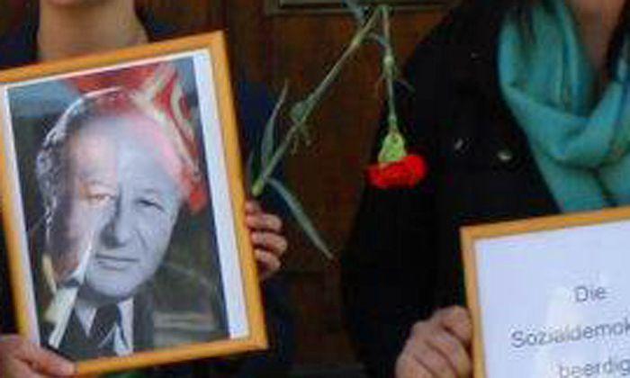SPJugend protestiert Kreisky gegen