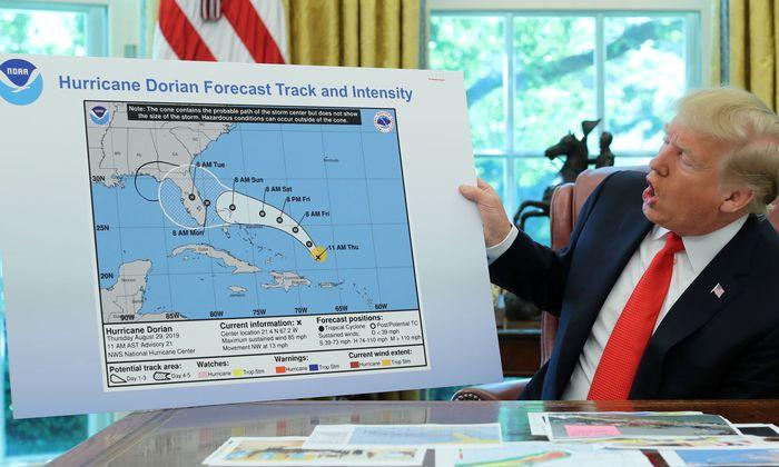 """Der US-Präsident bestand auf einer Bedrohung für Alabama durch Hurrikan """"Dorian"""""""