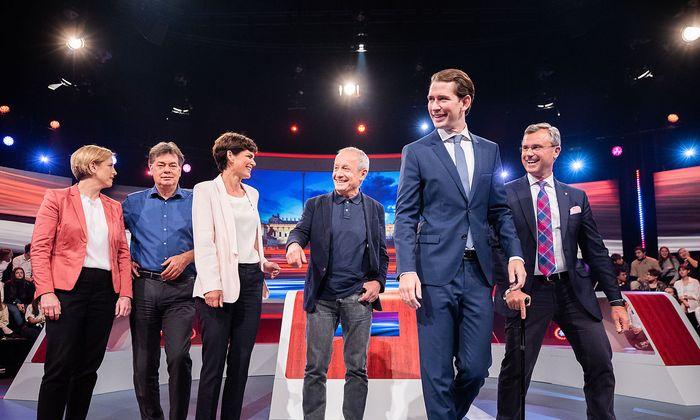 ORF-Wahlduelle - Meinl-Reisinger, Kogler, Rendi-Wagner, Pilz, Kurz, Hofer
