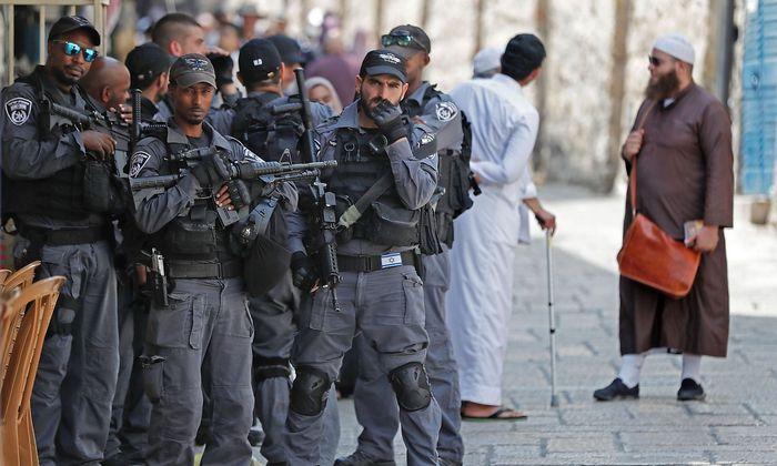 Israelische Sicherheitskräfte in der Altstadt von Jerusalem.