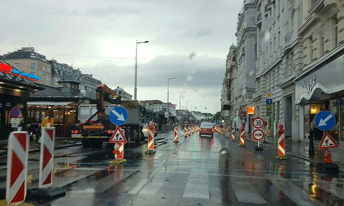 Die Baustelle an der linken Wienzeile am 2. September.