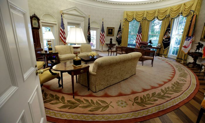 Sehnsuchtsort Oval Office, das Arbeitszimmer des US-Präsidenten.