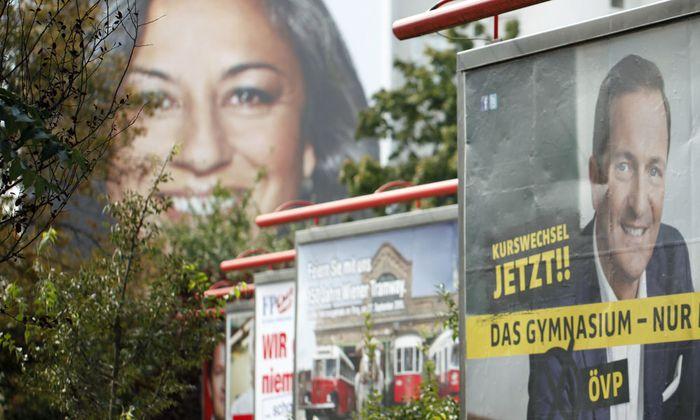 Wien, Wahl, Plakate