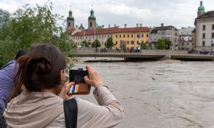 Inn-Hochwasser: Entspannung greift um sich