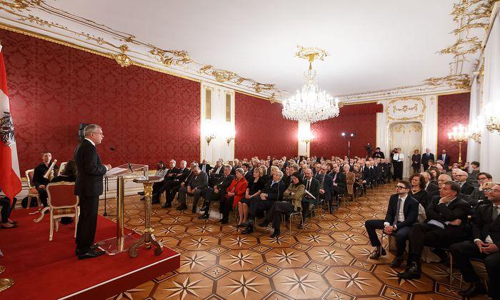 Van der Bellen während seiner Ansprache