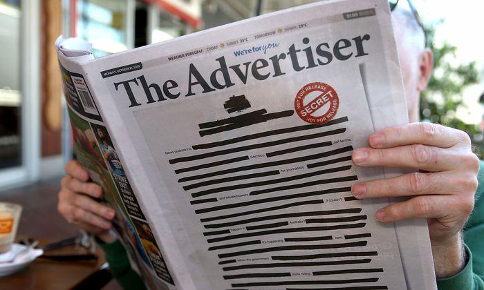 Die australischen Zeitungen kritisieren eine Einschüchterung der Presse.