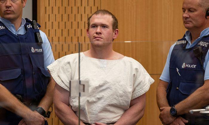 Brenton Tarrant im März vor Gericht in Christchurch - diesmal war er nur per Video zugeschaltet.