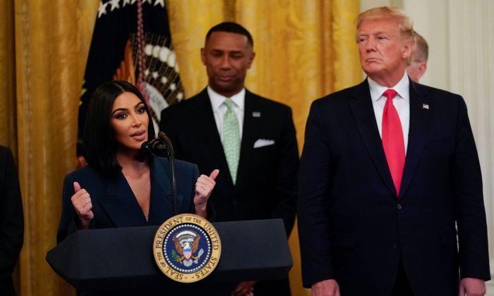Kim Kardashian auf Besuch bei Donald Trump