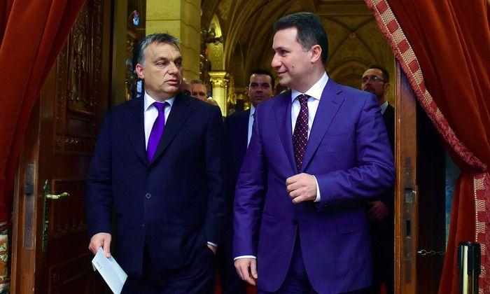 Viktor Orbán und Nikola Gruevski.
