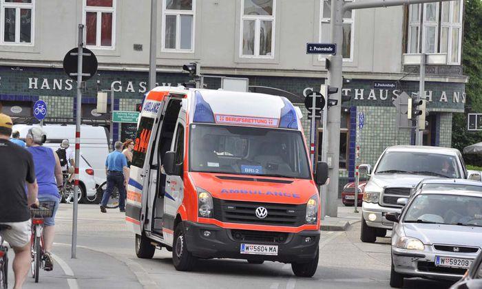 Rettungseinsatz am Wiener Praterstern