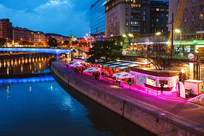 """Die """"Blumenwiese"""" am Donaukanal"""
