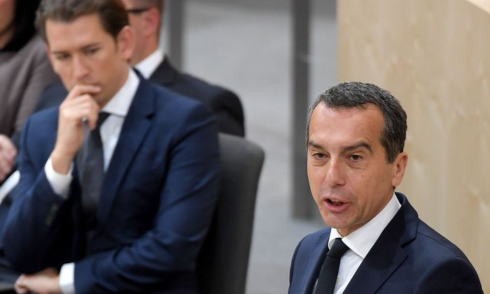 Archivbild: Christian Kern (re.) und Sebastian Kurz im Nationalrat