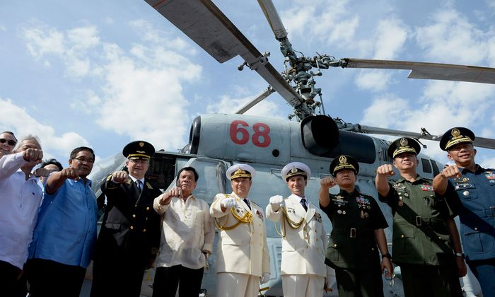 """Philippinischer Präsident """"flirtet"""" nun auch mit Moskau und plant gemeinsame Militärübungen mit Russland."""