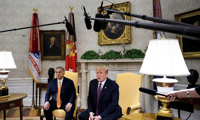 US-HUNGARY-POLITICS-TRUMP-ORBAN-diplomacy