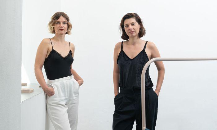 Milewska (links) und Miernik in der Galerie Significant Other, wo ihr Studio ist.
