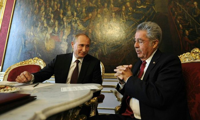 Putin und Fischer während des Wien-Besuchs des russischen Präsidenten im Juni 2014