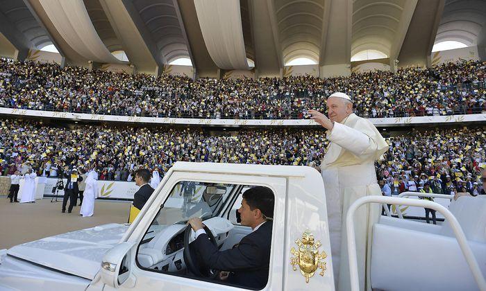 Papst Franziskus feierte Heilige Messe in Abu Dhabi.
