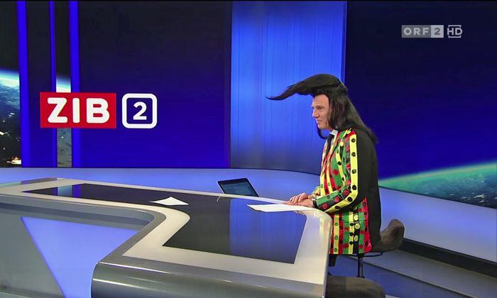 Ist damit dem anarchischen Reiz des Faschings Genüge getan? Armin Wolf war in den letzten 22 Sekunden der Sendung verkleidet.