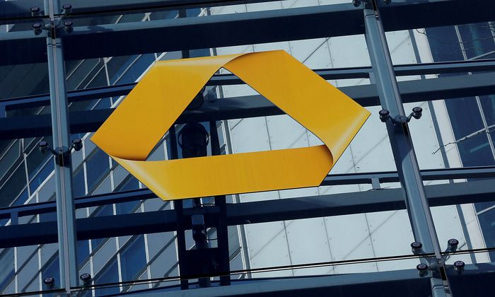FILE PHOTO:A Commerzbank logo is pictured in Frankfurt