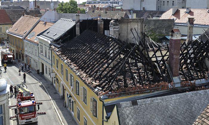 Grossbrand wuetete Innenstadt Baden