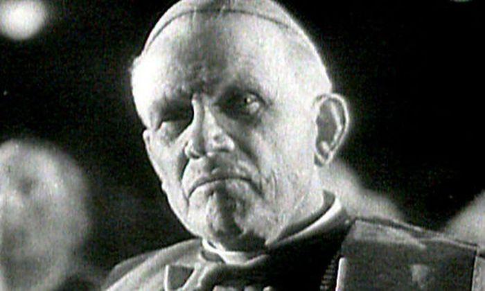 """War 1929 bis 1930 Sozialminister in einem Expertenkabinett: Theodor Innitzer, später Erzbischof von Wien. (Bild aus der ORF-Dokumentation """"Grüß Gott und Heil Hitler - Kirche unter dem Hakenkreuz"""")"""