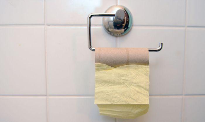 Leere WC-Papier-Rolle