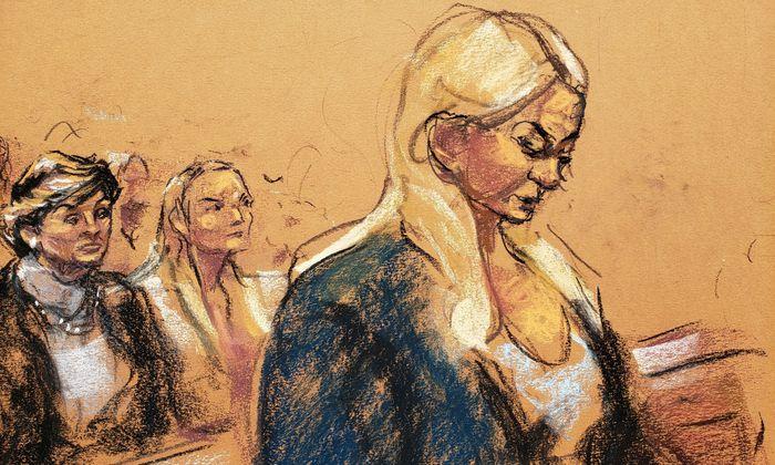 Virginia Roberts Guiffre im Zeugenstand.