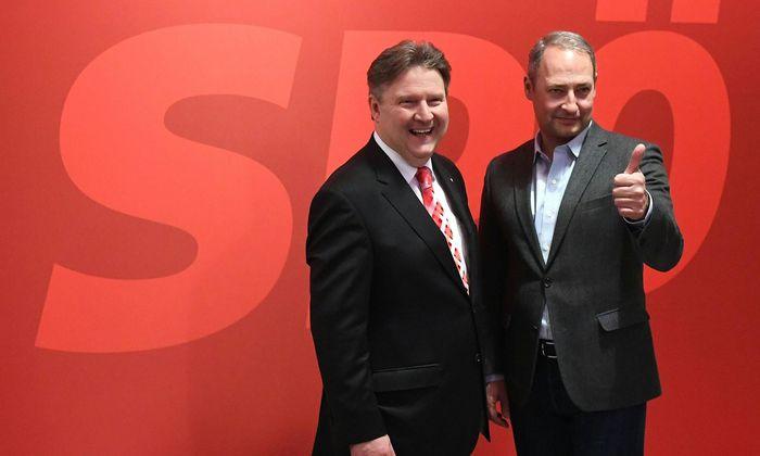 Rarität: Fast bis zum Schluss dieses internen Wahlkampfs gab es kein gemeinsames Foto von Michael Ludwig (l.) und Andreas Schieder.
