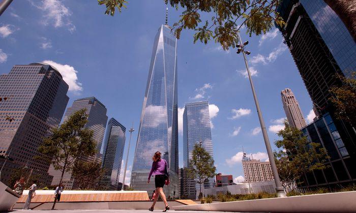 Ein neues Symbol: Wo bis 9/11 das World Trade Center stand, erhebt sich heute das One World Trade Center.