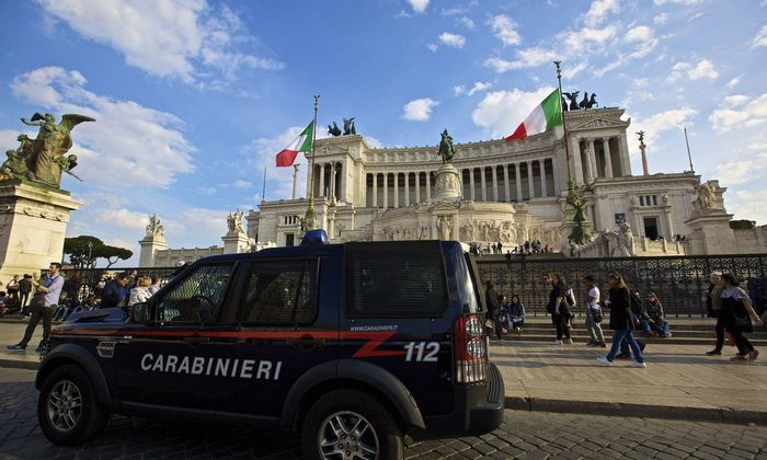 Sicherheitsvorkehrungen vor dem EU Sondergipfel in Rom