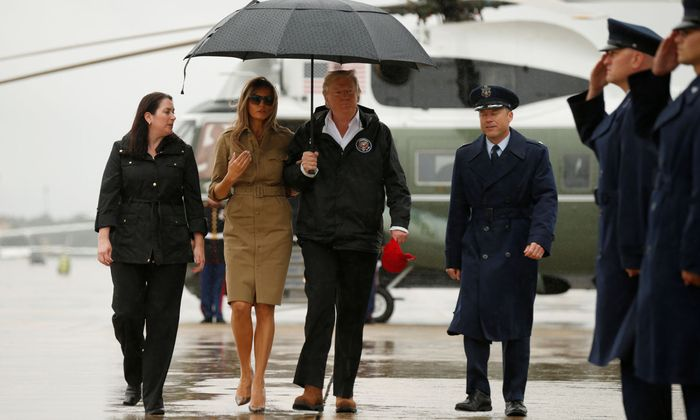 U.S. President Donald Trump departs Washington aboard Air Force One