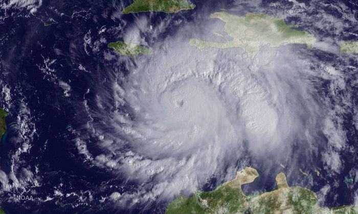 Satellitenbild des Hurrikans Matthew