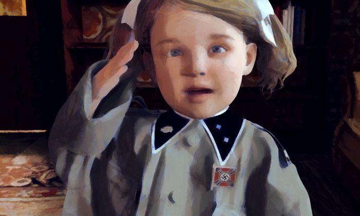 Und dann steckt der Opa der kleinen Elsa das Ehrenzeichen der SS-Heimwehr Danzig an die Brust.