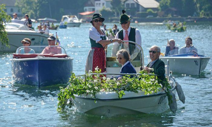 Seeprozession zu Fronleichnam in Traunkirchen am Traunsee