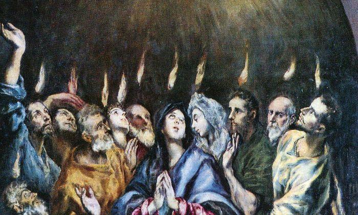 """Das Pfingstwunder in der Kunst: """"Ausgießung des Heiligen Geistes"""" von El Greco."""