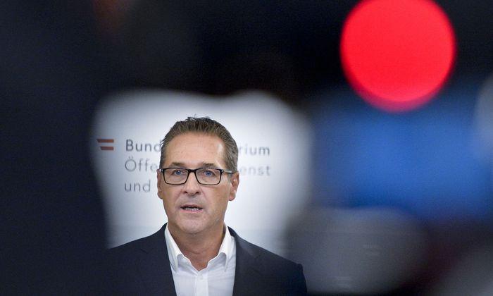 """Vizekanzler Heinz-Christian Strache (FPÖ) ortete einen """"historischen Tag""""."""