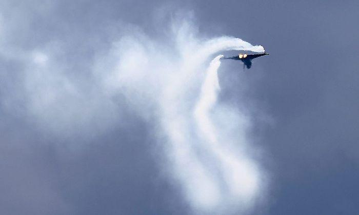 Archivbild: Ein Eurofighter bei der Airpower 2013