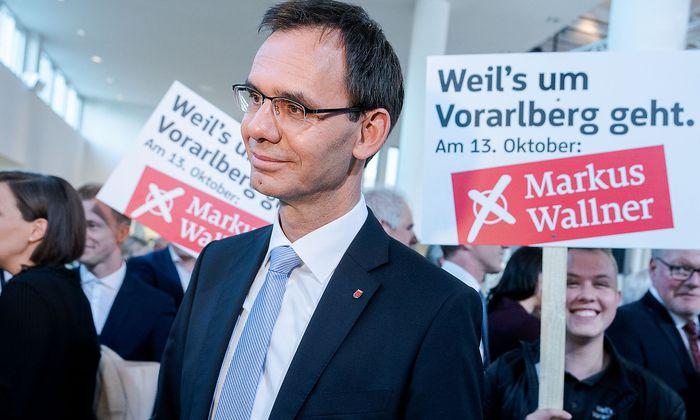 Landeshauptmann Markus Wallner am Wahlabend in Vorarlberg.