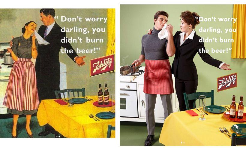 Sexistische Werbung mit vertauschten Rollen   DiePresse.com